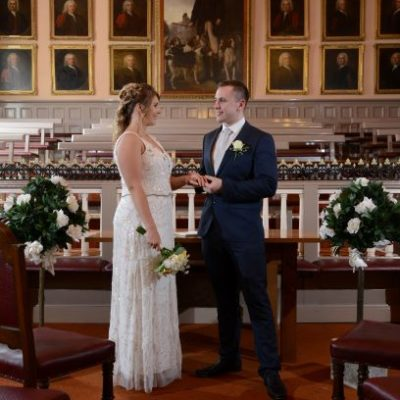 Wedding in the Main Chamber of the Barnstaple Guildhall.
