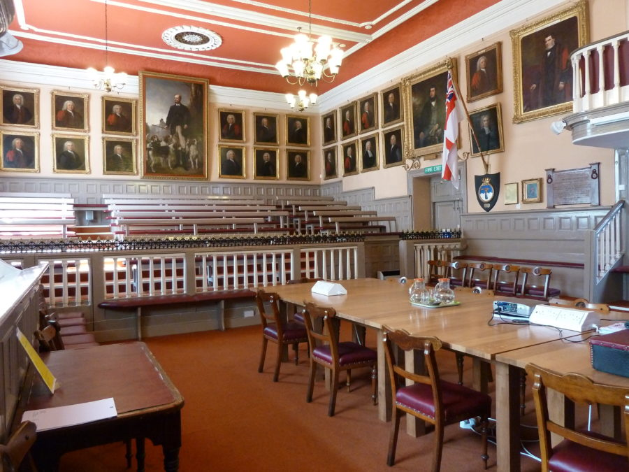 Guildhall Main Chamber set up for a meeting.